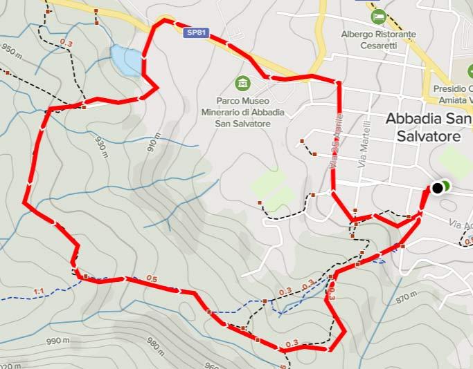percorso Miniera